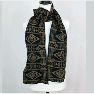 Pendleton 100% Merino Wool Long Scarf Tribal Aztec